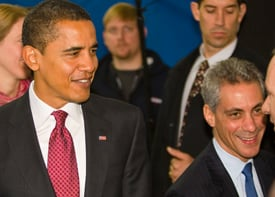 President Barack Obama and White House Chief of Staff Rahm Emanuel (Ralf-Finn Hestoft-Pool/Getty Images)