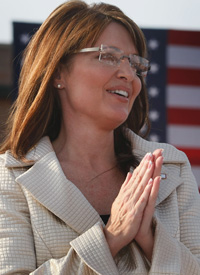 GOP VP pick, Alaska Gov. Sarah Palin (Credit: Joe Raedle/Getty Images)