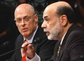 Treasury Secretary Henry Paulson and Fed Chairman Ben Bernanke (Chip Somodevilla/Getty Images)