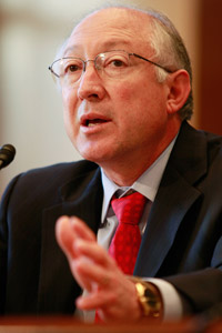Interior Secretary Ken Salazar testifies during a Senate Indian Affairs Committee hearing on Capitol Hill, on Dec. 17, 2009. (Mark Wilson/Getty Images)