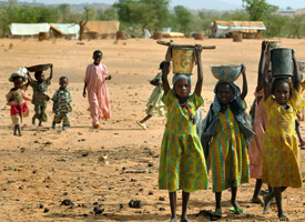 Sudanese refugee children at the Farchana refugee camp (Issouf Sanogo/AFP/Getty Images)