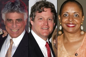 From left to right: Andy Stein, Ted Kennedy Jr. and Wanda Henton Brown have all worked as placement agents at New York City funds. (Getty Images/Wikimedia Commons)
