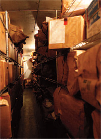 Untested sexual assault evidence at the Los Angeles Sheriff's Department central evidence storage facility. (Patricia Williams/Human Rights Watch)