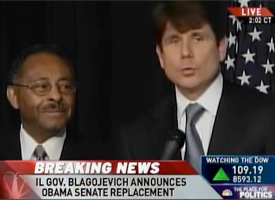 Roland Burris and Illinois Gov. Rod Blagojevich (MSNBC)