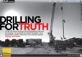Flyp Media, an online multimedia magazine, has published an expanded, interactive version of our gas drilling coverage.