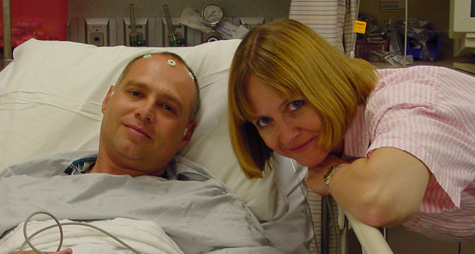 Charlie and Kathy Wolf before his first brain tumor surgery in 2002. (Kathy Wolf)