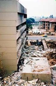 Aftermath of Kenyan embassy bombing (FBI file photo)