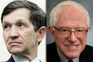 Rep. Dennis Kucinich, D-Ohio and Sen. Bernie Sanders, I-Vt.