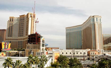 Las Vegas's unemployment rate rose half a point to 13.3 percent in July (Getty Images)