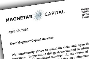 Click here to read Magnetar's letter to investors.