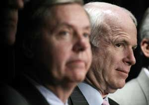 Sens. Lindsey Graham and John McCain (WDCPIX file photo)