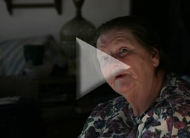 Dimock resident Norma Fiorentino's drinking water well exploded on New Year's morning. The blast was so strong it tossed aside a several-thousand=pound concrete slab. Click to see more of Dimock's residents' stories. (Abrahm Lustgarten/ProPublica)