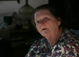 Dimock resident Norma Fiorentino's drinking water well was a time bomb. On New Year's morning, her well exploded. After the blast, state officials found methane in her drinking water. (Abrahm Lustgarten/ProPublica)