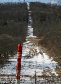 An underground gas line in Dimock, Pa. (Abrahm Lustgarten/ProPublica)