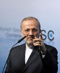 Iran's foreign minister, Manoucher Mottaki, rejected the charges against the four Iranians and denounced the arrests as politically motivated (John MacDougall/AFP/Getty Images file photo).