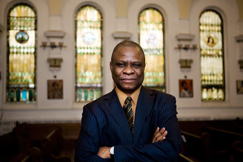 Chibueze Okorie, director of evangelism at the Church of Gethsemane in Brooklyn (ProPublica/Dan Nguyen)