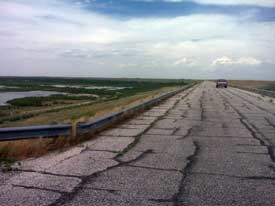 The guardrail at Lake Optima. The project has been canceled (Photo from Coburn's office)
