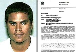 The Justice Department released an obscure 2002 memo that asserted the president's authority to seize Jose Padilla.