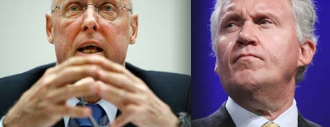 Former Treasury Secretary Henry Paulson and GE CEO Jeffrey Immelt (Getty Images)