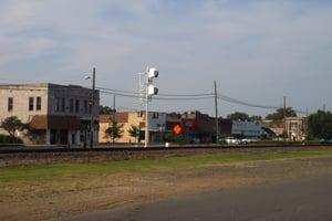 Downtown Prescott, Ark. (Marcus Stern/ProPublica)