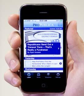 ProPublica's free iPhone app