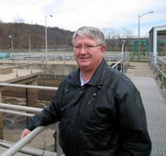 Joe Rost, chief engineer at the McKeesport Sewage Treatment Plant (Joaquin Sapien/ProPublica)