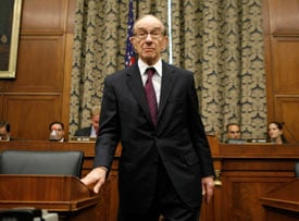 Greenspan testifies at House Oversight and Government Reform Committee hearing in Washington (Kevin Lamarque / Reuters)