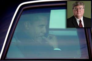 President Obama and Dan Metcalfe, inset. (Reuters)