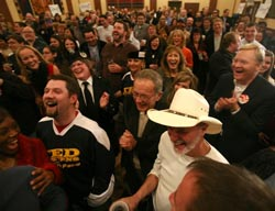 Ted Stevens with supporters on election night. (Johnny Wagner/Getty Images)