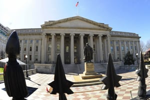 The Treasury Department is not collecting dividend payments from at least 18 banks that received bailout funds. (Karen Bleier/AFP/Getty Images)