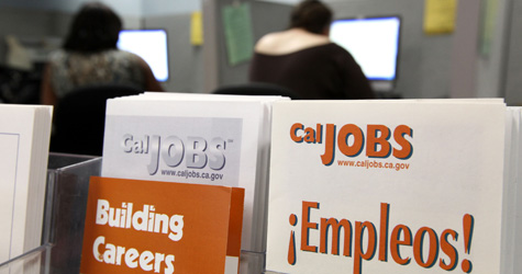 Pamphlets with information on finding jobs are displayed at the Richmond Works One Stop Career Center in Richmond, Calif. (Justin Sullivan/Getty Images)