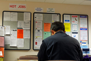 U.S. employers cut far more jobs than expected in June and the unemployment rate hit a nearly 26-year high of 9.5 percent. (Brian Snyder/Reuters)