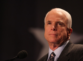 McCain's campaign has received more than $50,000 in contributions through bundler Harry Sargeant III. (Credit: Lauren Victoria Burke/wdcpix.com)