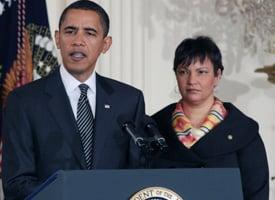 President Obama and EPA Administrator Lisa Jackson (Lauren Victoria Burke/wdcpix.com)