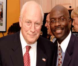 Syndicated columnist Armstrong Williams, pictured right, received $240,000 in taxpayer funds to promote the No Child Left Behind bill through a Ketchum Inc. initiative.