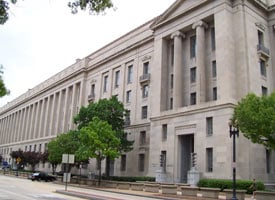 The Robert F. Kennedy Department of Justice Building in Washington, D.C. (Credit: Wikimedia Commons)