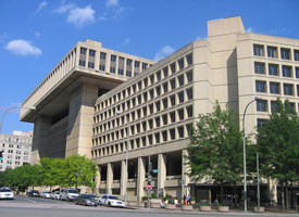 J. Edgar Hoover Building, FBI's headquarters in Washington, D.C. (Credit: Wikimedia Commons)