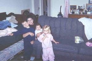 Veronica Vas, with her children, from left, Alex, Isis and Emily (Source: District Court of Potter County, Texas)