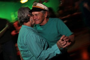 Thomas Gonzalez dancing at Rockin' Rumors in Delacroix, La., on Nov. 12, 2010. (Melanie Burford/Prime for ProPublica)