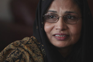 Samraz Rana is the wife of Tahawwur Rana, who is on trial for being an accomplice in the 2008 Mumbai attacks. (Photo courtesy of PBS FRONTLINE)