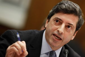 Securities and Exchange Commission's Division of Enforcement Director Robert Khuzami testifies before the House Oversight and Government Reform Committee on Dec. 11, 2009, in Washington, D.C. (Chip Somodevilla/Getty Images)
