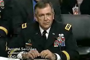 Gen.Peter Chiarelli, the Army's vice chief of staff, testifies before a hearing before the Senate Armed Services Committee on June 22, 2010. (Senate Armed Services Committee)
