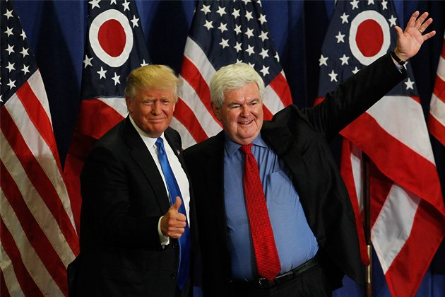 Image result for newt gingrich donald trump