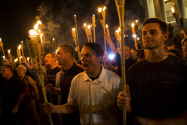 Image result for Twitter Facebook Comment Email A New Generation of White Supremacists Emerges in Charlottesville