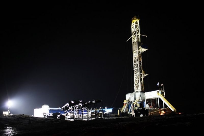 Gt Drilling Rig Night X on chemicals in fracking fluid