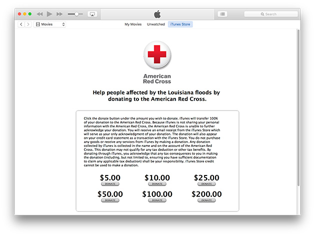 Apple and Others Help Customers Donate to the Red Cross — ProPublica