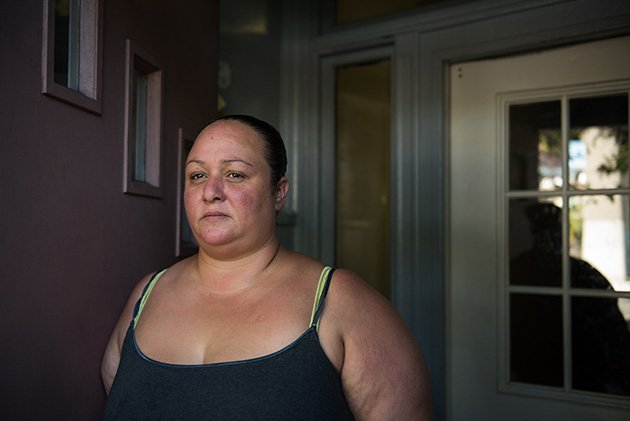 Olga Ortiz was illegally evicted from her Bushwick apartment to Hunts Point, a far-away industrial neighborhood in the Bronx. (Edwin J. Torres for ProPublica)