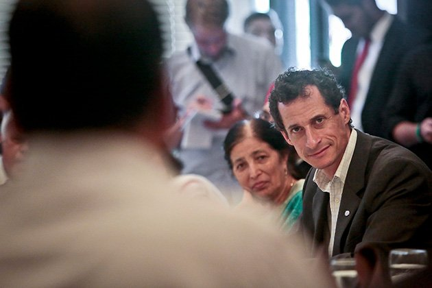 Anthony Weiner at a campaign event during his unsuccessful mayorial bid in 2013 (AP Photo/Bebeto Matthews)