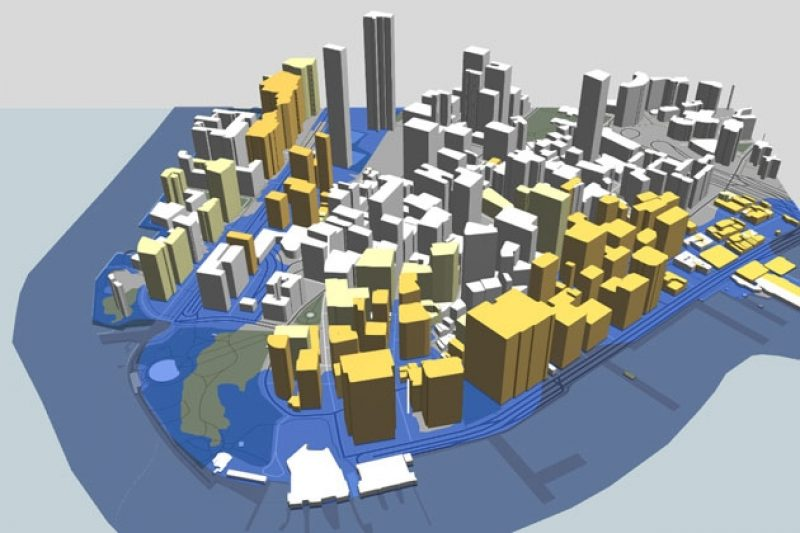 Interactive Map Of New York City.How We Made The 3 D New York City Flood Map Propublica