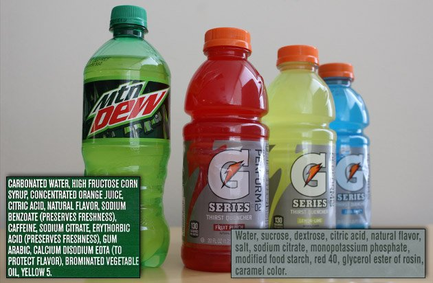 While PepsiCo has taken brominated vegetable oil out of Gatorade, it's still in Mountain Dew and other drinks.
